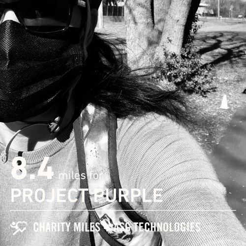 8.4 @CharityMiles! for @Run4Purple #EveryMileMatters #CharityMiles #ProjectPurple #PancreaticCancer #fiftyfans