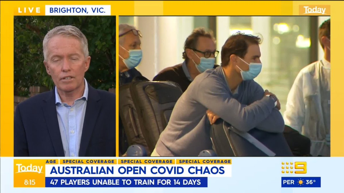 We are joined by Tennis Australia CEO, Craig Tiley, after 50 players were deemed unable to train for two weeks after being on flights with infected people. #9News https://t.co/NTy5dn0JGh