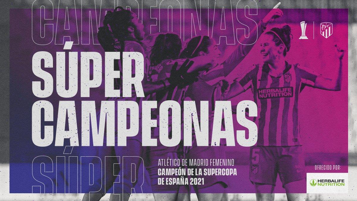 🗣¡𝐂𝐚𝐦𝐩𝐞𝐨𝐧𝐚𝐬, 𝐜𝐚𝐦𝐩𝐞𝐨𝐧𝐚𝐬 𝐨𝐞 𝐨𝐞 𝐨𝐞❗❕❗   🔴⚪#AúpaAtleti  🏆 #SupercopaFemenina |⚽#LevanteAtleti