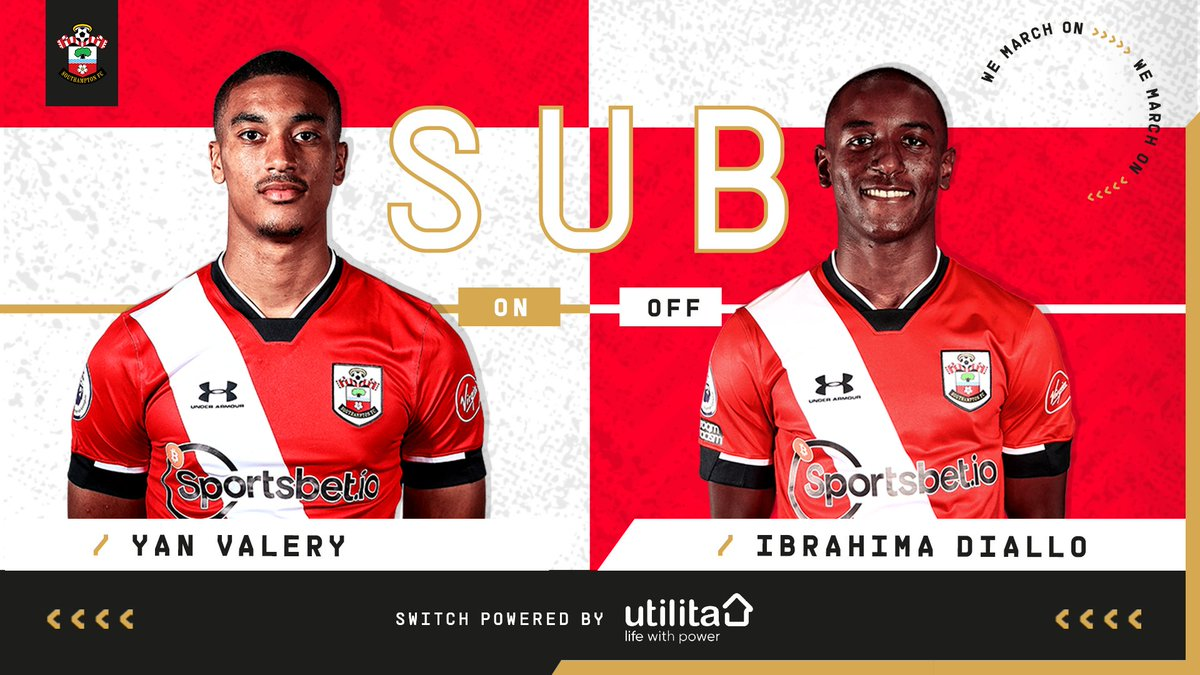 87: A final roll of the dice, as @yan_valery takes to the field in place of Ibrahima Diallo. [1-0]