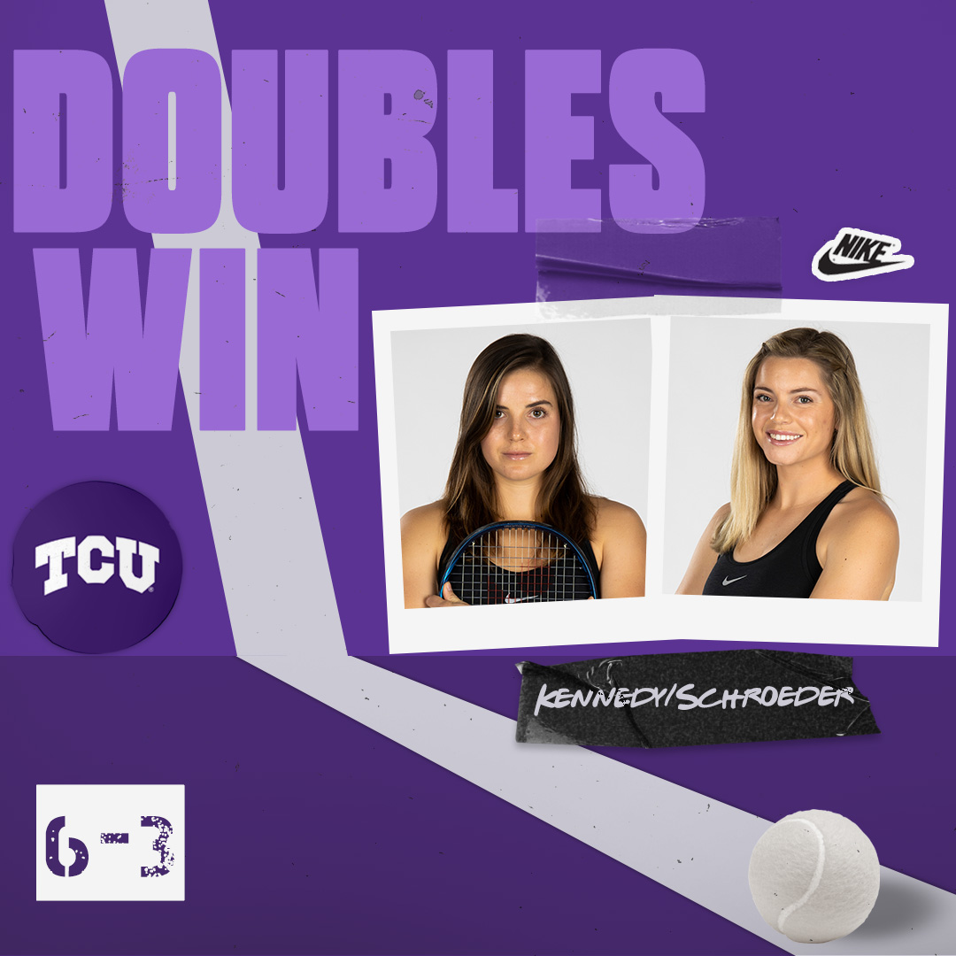 Stevie and Tate clinch the doubles point for the Frogs!  #BuildBelief x #GoFrogs🐸🎾 https://t.co/Qa2EMkK6V5