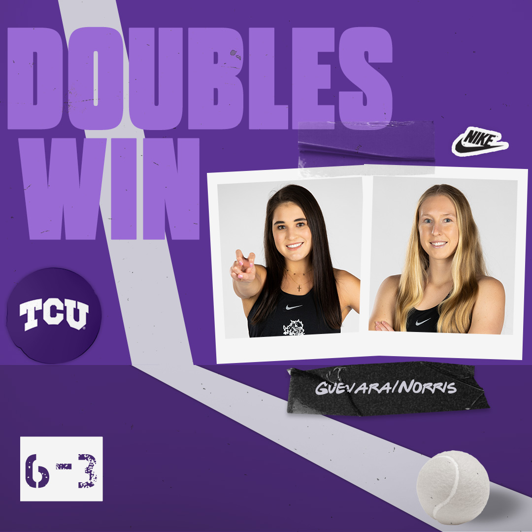 Addy and Marie secure the TCU doubles sweep!  #BuildBelief x #GoFrogs🐸🎾 https://t.co/NO7dd8UTHn
