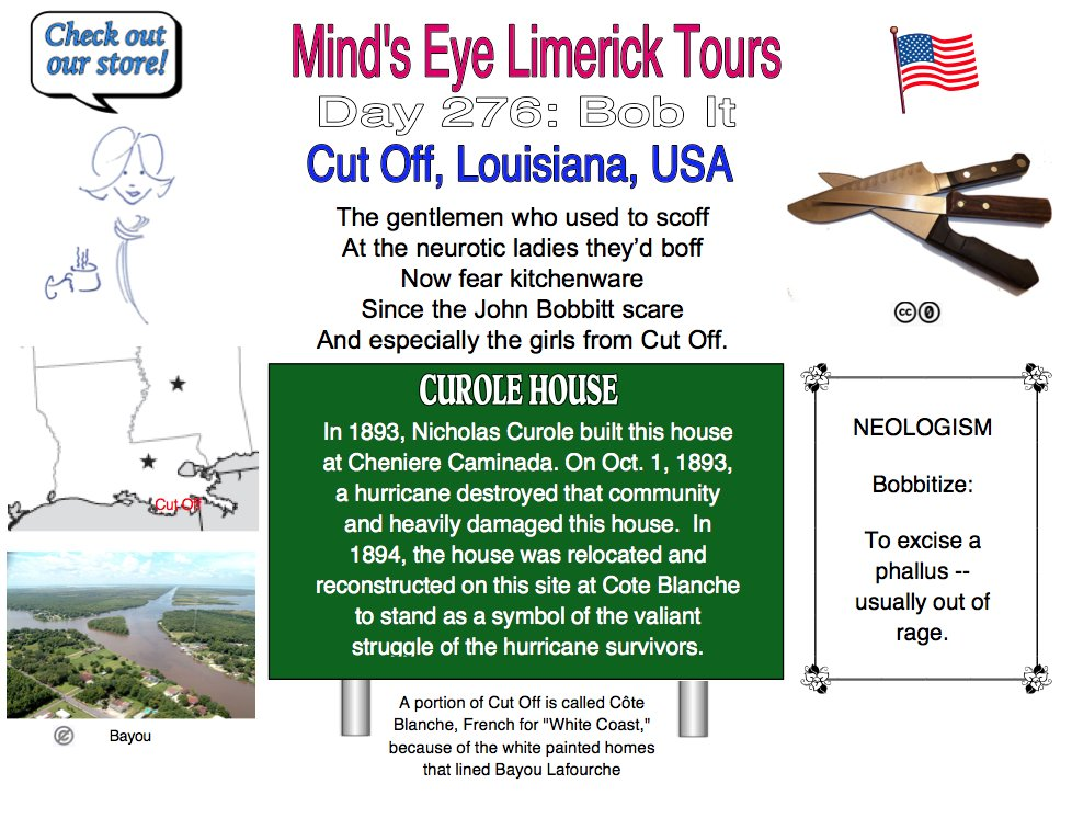 #Limerick #entertainment #humor #store #CutOff #Louisiana #JohnBobbitt #LorenaBobbitt #gifts