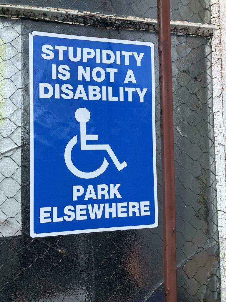 Saw this sign in a car park today via /r/funny  #funny #lol #haha #humor #lmao #lmfao #hilarious #laugh #laughing #fun #wacky #crazy #silly #witty #joke #jokes #joking #epic #funnypictures