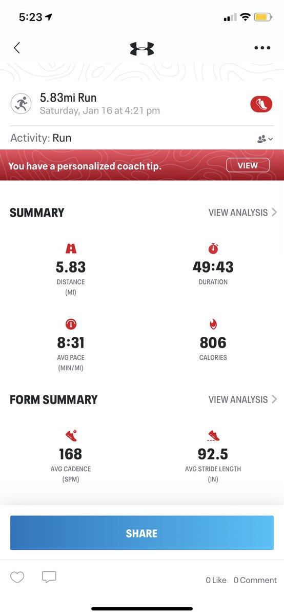 Got a nice 5 mile run in. @MichelobULTRA #teamultra + #ultraambassador #cheers
