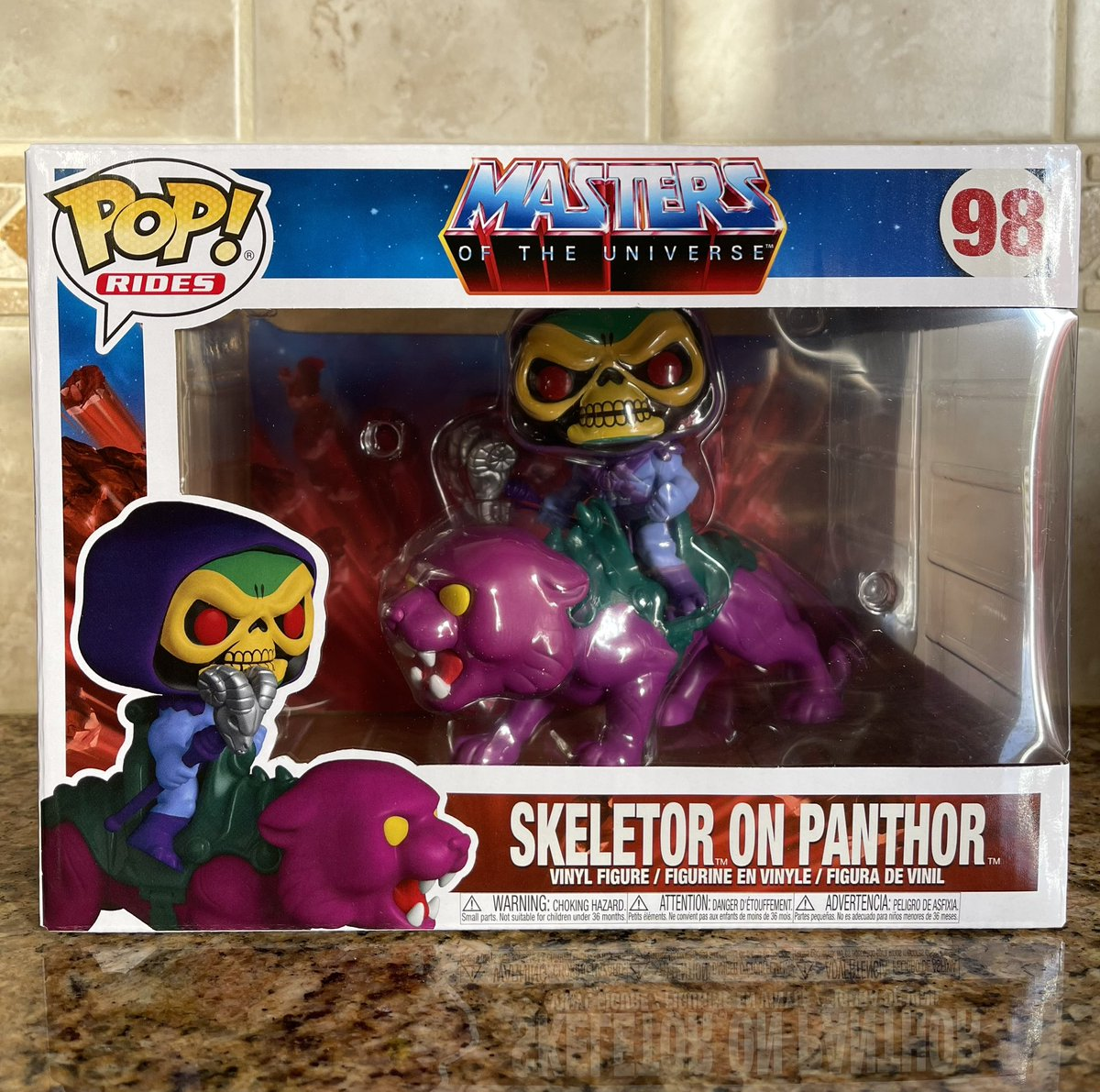 Mail Call! Got my Skeletor on Panthor! The $11 price error was worth it.  #Motu #MastersoftheUniverse #Funko #FunkoPop #Skeletor #PopVinyl #DisFunko #DisPops