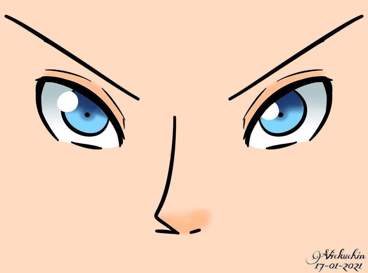 """Esto pasa cuando descubres el """"Duplicar + Revertir Horizontalmente"""" 👁️👃👁️ #Drawing #Practice #DigitalDrawing #MediBangPaint #DigitalArt #Eyes"""