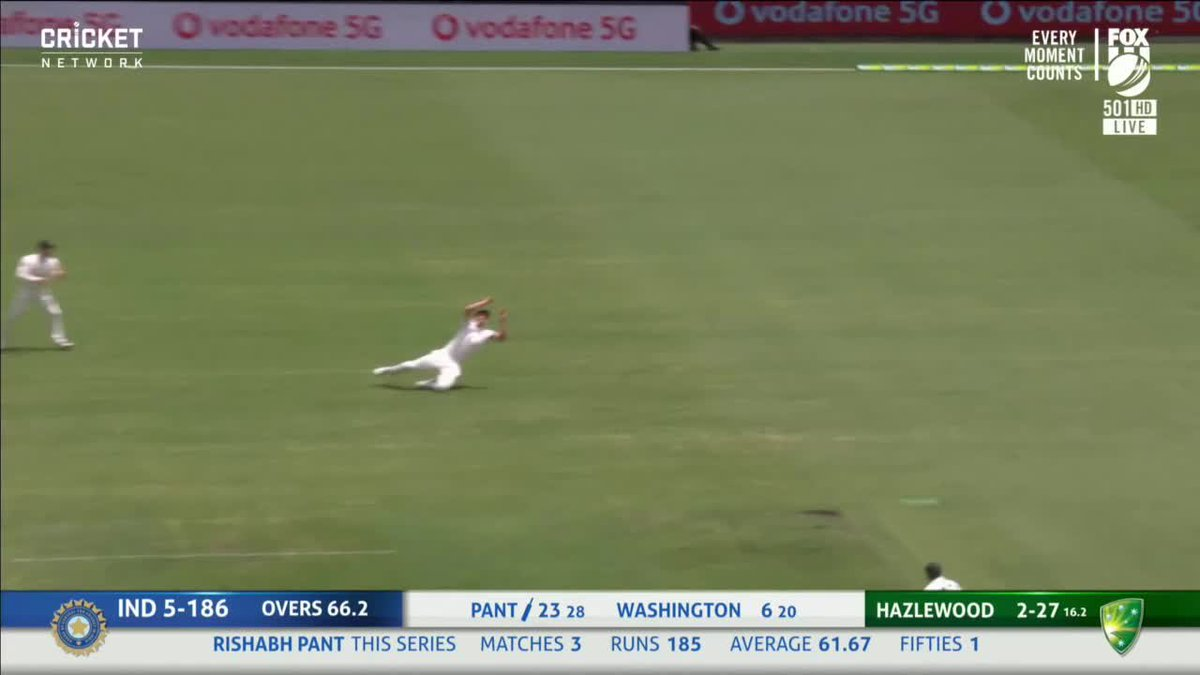 Cameron Green said he's never been a gully fielder ... well, he's not getting out of there any time soon!   Live #AUSvIND:
