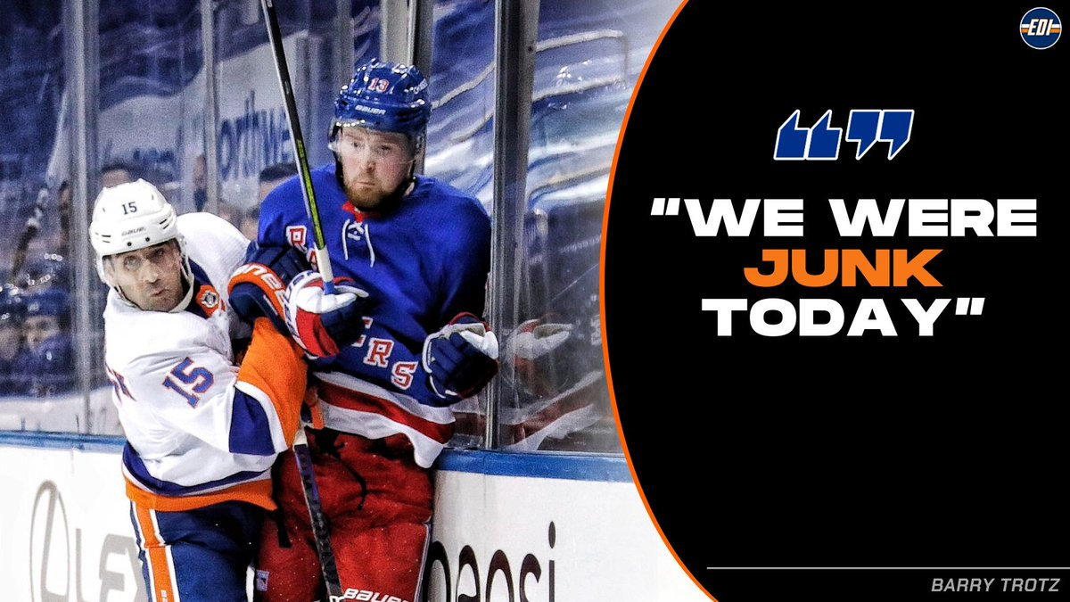 #Isles HC Barry Trotz is not happy.