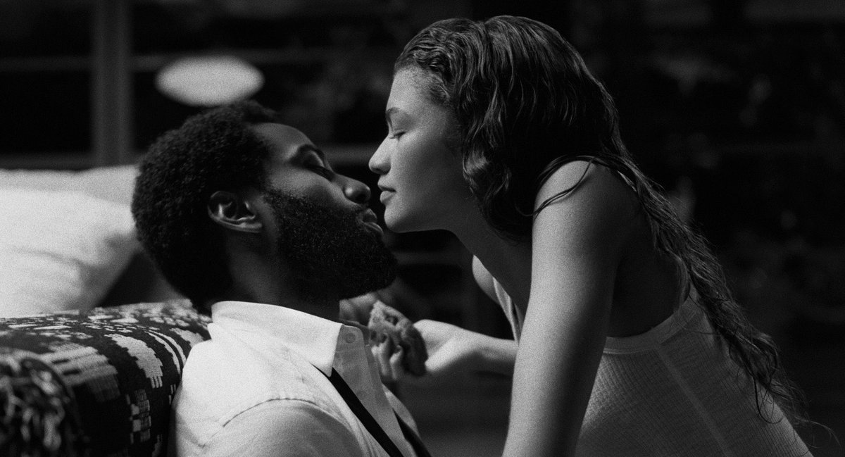 #MalcolmAndMarie is such a unique, fascinating watch. Tackles love, art, rage, film, truth, critics and more. Zendaya & John David Washington give outstanding performances. Great direction & use of music. Need to say this again, #Zendaya is phenomenal. She's 🔥 in this. #Oscars