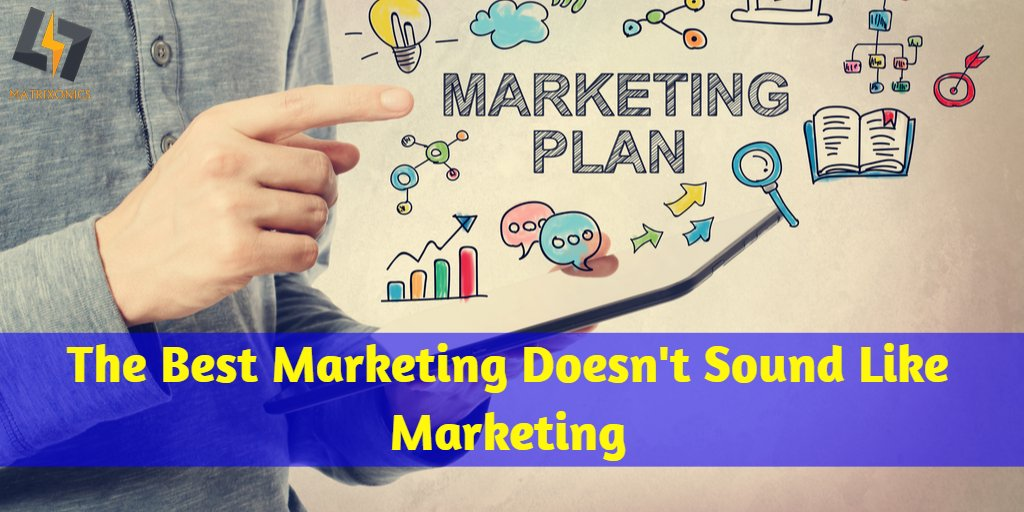 The best marketing doesn't sound like marketing. Do you have a sound marketing strategy? Check out this space to find more marketing tips.  #Matrixonics #DigitalMarketing #OnlineMarketing #DigitalMarketingTips #OnlineMarketing #MarketingStrategy