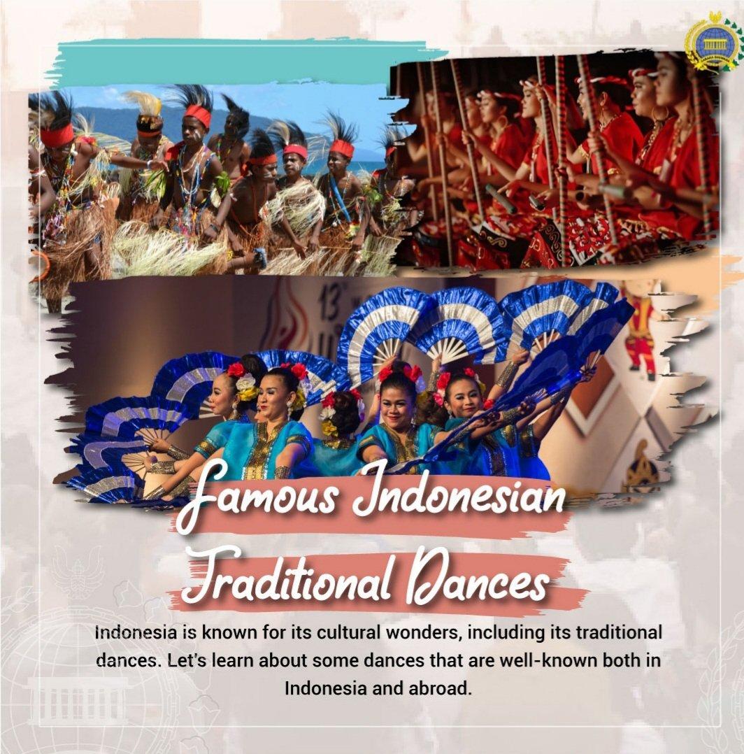 Indonezia este cunoscută pentru artele sale culturale, inclusiv pentru dansurile tradiționale. Unele dintre celebrele dansuri tradiționale sunt Dansul Sajojo din Papua  #IniDiplomasi #RintisKemajuan #BudayaIndonesia #TariTradisionalIndonesia #IndonesianDance #TraditionalDance https://t.co/Xu8gqSg7th