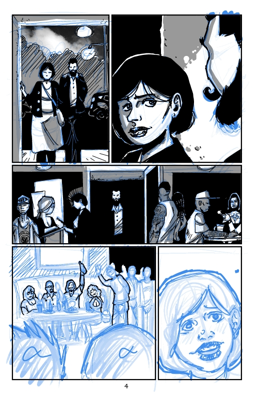 Drawing some pages to have a good portion of the story going for Patreon.  I'd post it on Webtoons but I'm going to draw stuff that'll break community guideline pretty soon into the story. #horror #comicpage #drawing #darkart #illustration #indiecomics