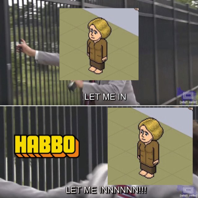 LET US IN @Habbo! THIS IS #NOTMYHABBO! @Quackity WILL NOT HOLD BACK. GIVE US A RESPONSE!!!!!!!!!
