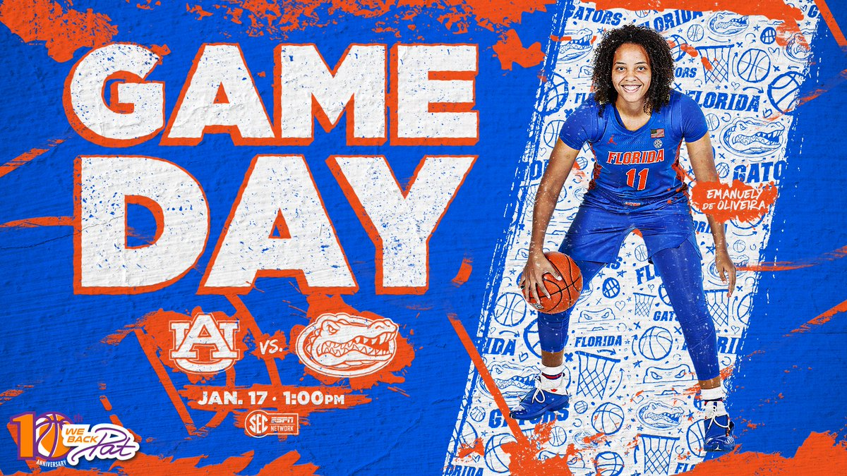 Back in town for #GameDay 🏡🐊  ⏰ 1 p.m. 🆚 Auburn 🏟️ @OConnellCTR  📺 SEC Network 📹  📻  📊   #GoGators x #WeBackPat