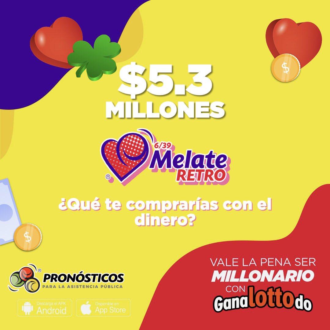 Mira los millones que te puedes ganar hoy 😱😱 ¿qué esperas para jugar #MelateRetro? 🍀🥳 https://t.co/ji5ZfNeLYP https://t.co/GdAyTuOgAR