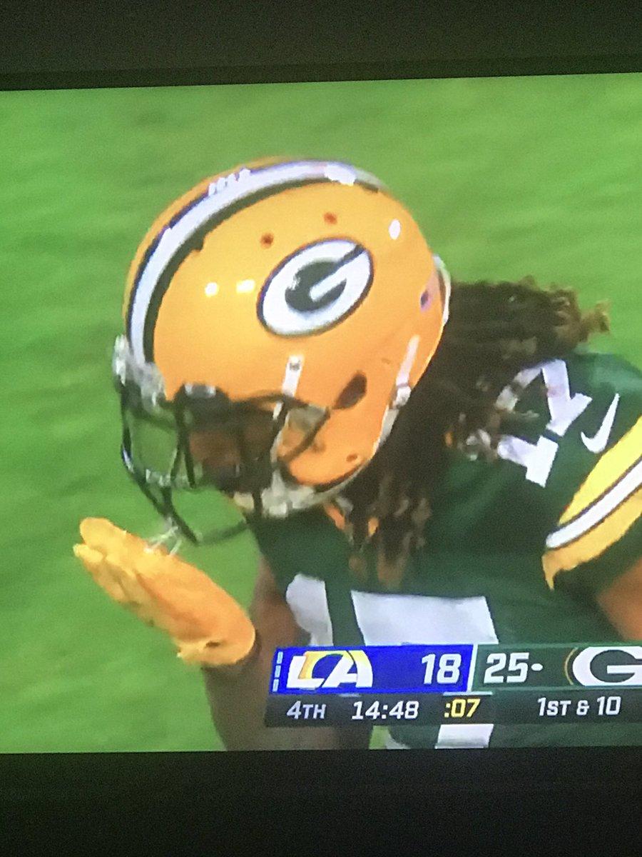 """How is Devontae Adams so good""? 😬🤢🤮 #GreenBayPackers #GoPackGo #NFLDivisional #nfl #lambeaufield"