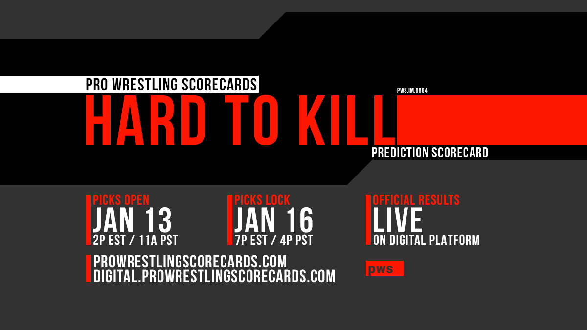 #PWS results for the Impact Hard to Kill  prediction scorecard will post to this thread at the conclusion of each match.  Use #PWSResults to join the conversation.  #IMPACTonAXSTV #HardToKill