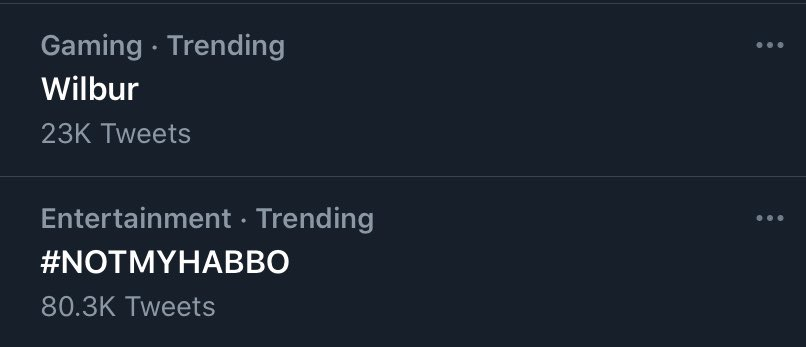 SKSJSJ WILBUR AND #NOTMYHABBO IS TRENDING DHEHJD