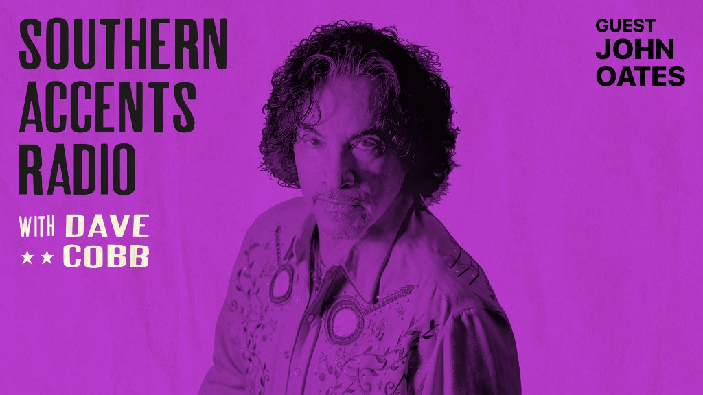 .@JohnOates talks songwriting with @davecobb7 on #SouthernAccentsRadio.  Listen now on Apple Music Country: