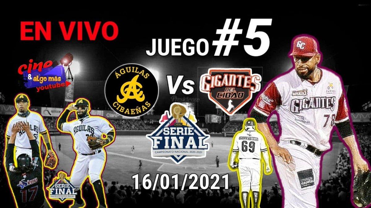 EN VIVO: Aguilas Vs Gigantes Juego 5 Serie Final Lidom