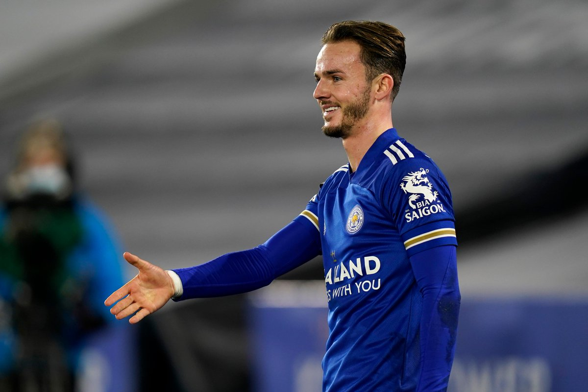 🤩 James Maddison scored in consecutive #PL matches for Leicester for the first time since October 2019  #LEISOU