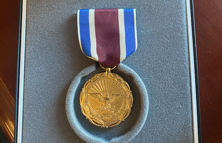 Team Trump wins rare recognition: @jaredkushner, @aviberkow45, @Scavino45 receive Department of Defense Medal for Distinguished Public Service and Kushner & Berkowitz special awards from Morocco for peace deals.