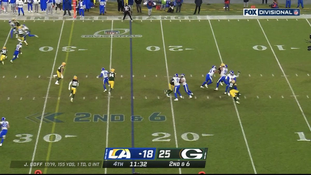 Big catch by @VanJefferson12 and Rams keeps driving on.   #LARvsGB #DivisionalRound