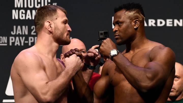 🔴 CONFIRMADO 🔴  En la conferencia de prensa post evento, Dana White confirmó que la pelea entre el Campeón de Peso Pesado Stipe Miocic vs Francis Ngannou estelarizará #UFC260 el 27 de Marzo.  ¿Miocic se impone nuevamente o Ngannou le pasará por encima?  #UFC #UFCFightIsland7