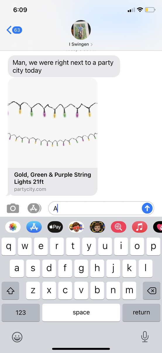 Told my husband we're keeping the tree up until everyone has received the Vaccine and he responded w this. #madigras #allin
