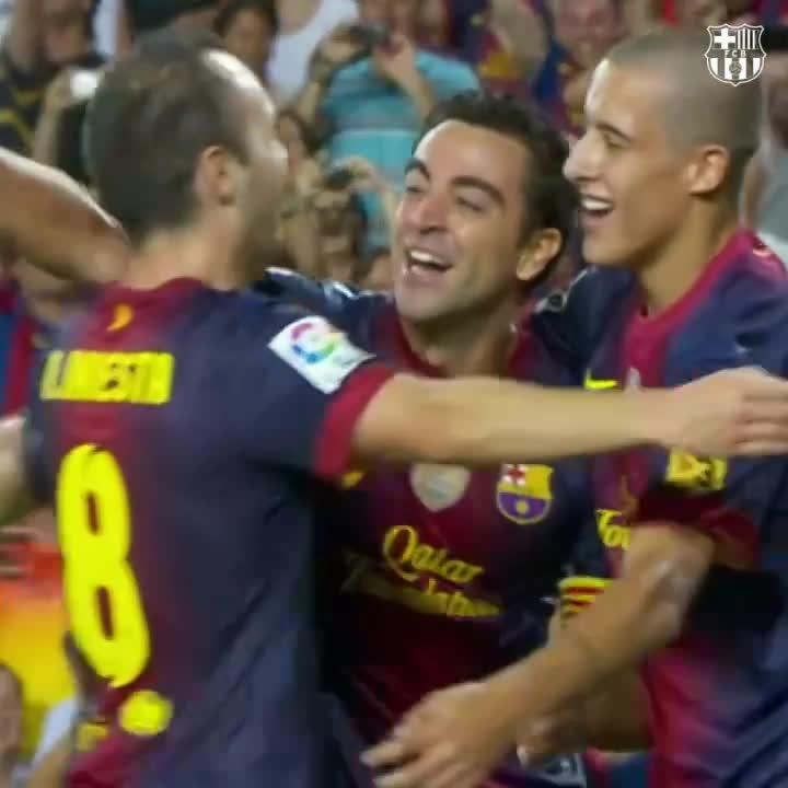 🤩 Golaços na Supercopa da Espanha 🏆  🔥 @andresiniesta8 ➡️ #Xavi ➡️ 🙌🎉  🔵🔴 #SupercopaBarça