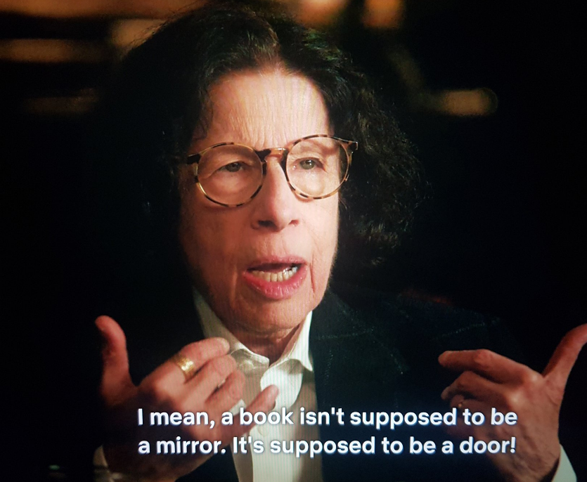 """""""As soon as you can read you are incredibly rich."""" Fran Lebowitz (who's the Dorothy Parker of our day) #PretendItsACity #bookhoarder #laughing #Reading"""