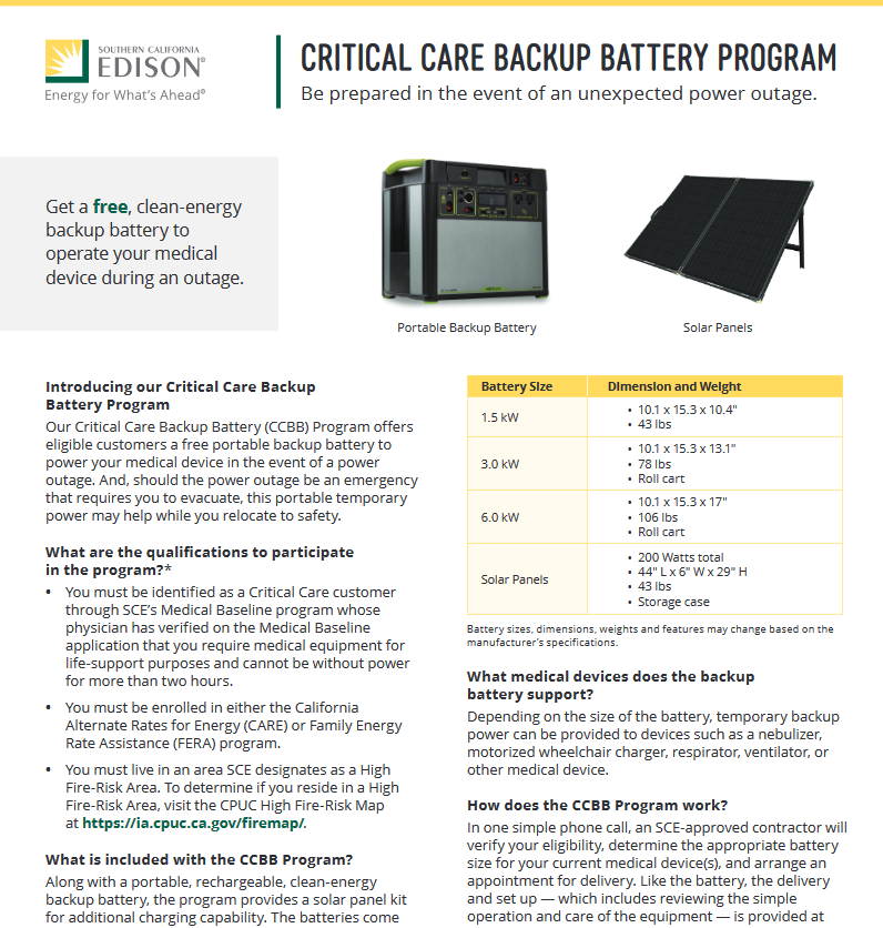 If you are a SCE Medical Baseline customer, seems like this free battery backup program is well worth it nowadays.