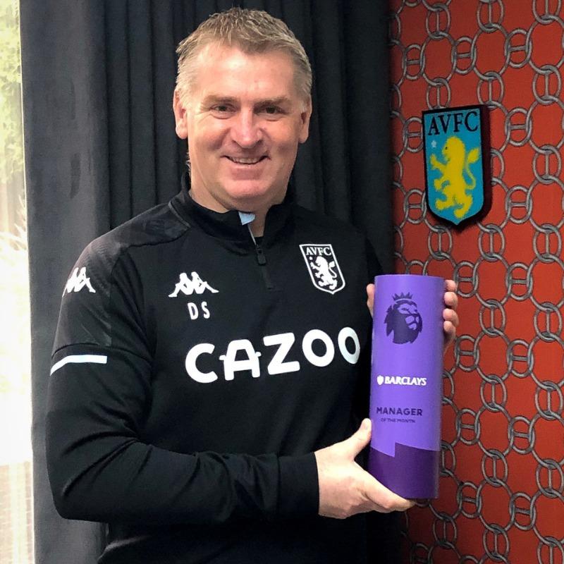 #PLAwards: Dean Smith🏴 (Aston Villa🔴) Entrenador del Mes de Diciembre!. 🏅  DATO: Dean Smith🏴 es el primer DT ganador del Aston Villa🔴 desde Martin O'Neill🇯🇪 (Abril 2010). 🏅