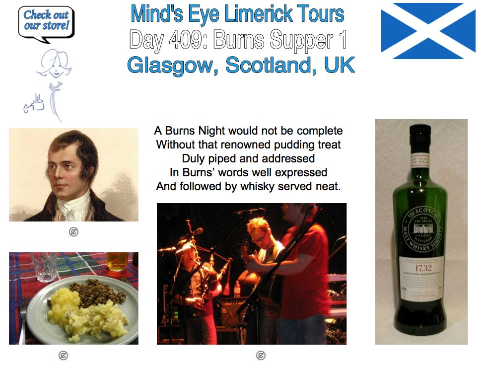 #Limerick #entertainment #humor #store #RobertBurns #BurnsSupper #haggis #ceilidh #Scotland #Glasgow #whisky #bagpipes #AuldLangSyne #cullenskink
