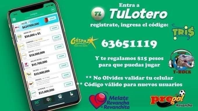"""¡#QuédateEnCasa y juega en línea!  Entra a , registrate, ingresa el código: """"63651119"""" Y te regalamos $15 pesos para que puedas jugar ** No Olvides validar tu celular ** ** Código válido para nuevos usuarios  #SORTEO"""