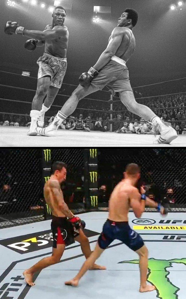 🐐. Same dodge. Same punch. Same stance. #blessedexpress #hawaiistandup #UFConABC1 #UFCFightIsland7