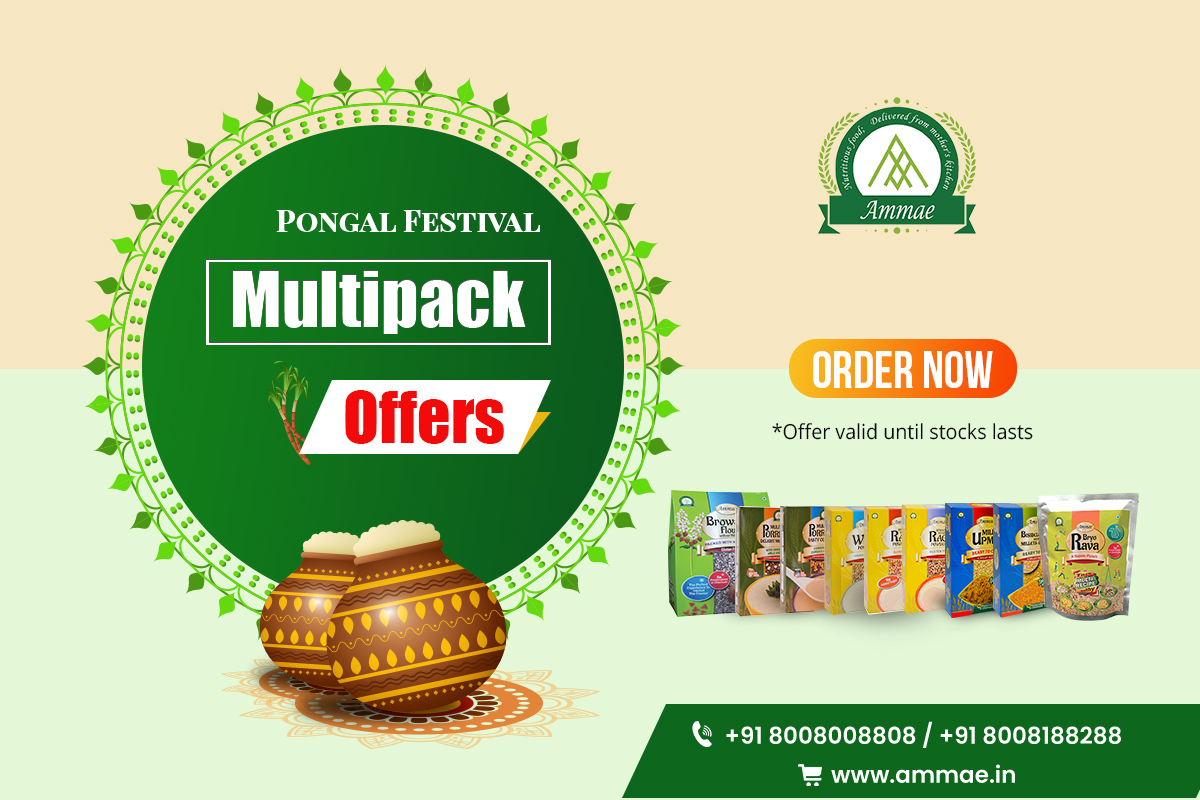 Multipack and Combo available for breakfast and millet diet. Check our website.   #pongal #happy_pongal #happylohri #happysankranti #Pongal_offers #Festival_combo_Offers #Festivaloffers #Combo_offer #Multipack_offers