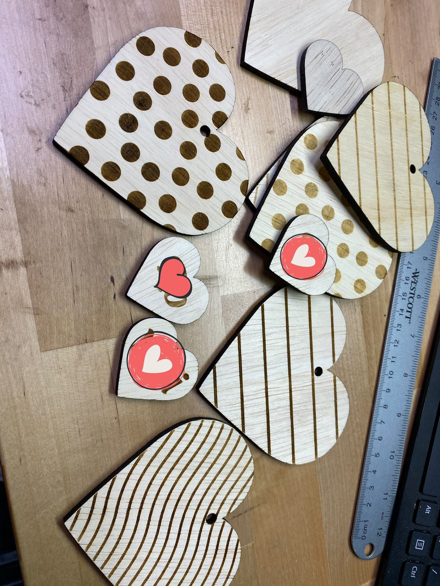 Valentine's Day box tags ready for a creative mom to do her thing with her own paints, in a cute little monogrammed treasure chest. #valentines #tag #custommade #kids #woodworking #laserengraving #veteranowned #tricitieswa #crafty