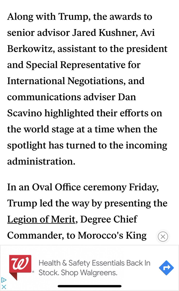 Dan Scavino got some kind of honor related to international security from Trump yesterday, along with Kushner and Berkowitz (per the Washington Examiner) https://t.co/moIORRZ2nN
