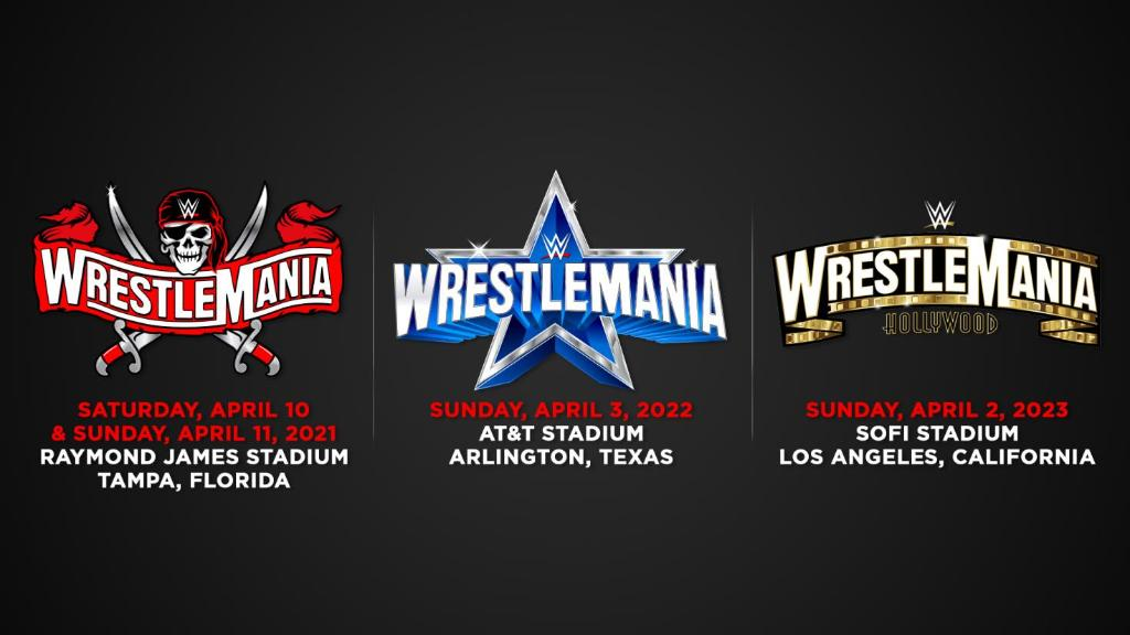 WWE Announces Locations For WrestleMania 37, 38 and 39