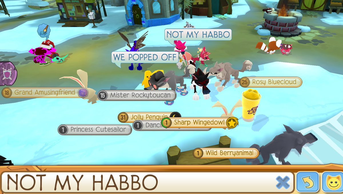 #NOTMYHABBO Not much, but a small rally.