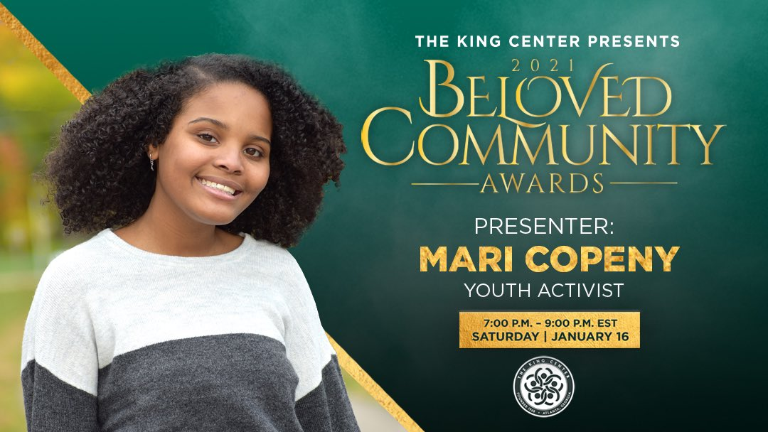 Heyyy, @LittleMissFlint! You are a powerful leader. Thank you for presenting at our #BelovedCommunity Awards. #MLK #BCAKingCenter