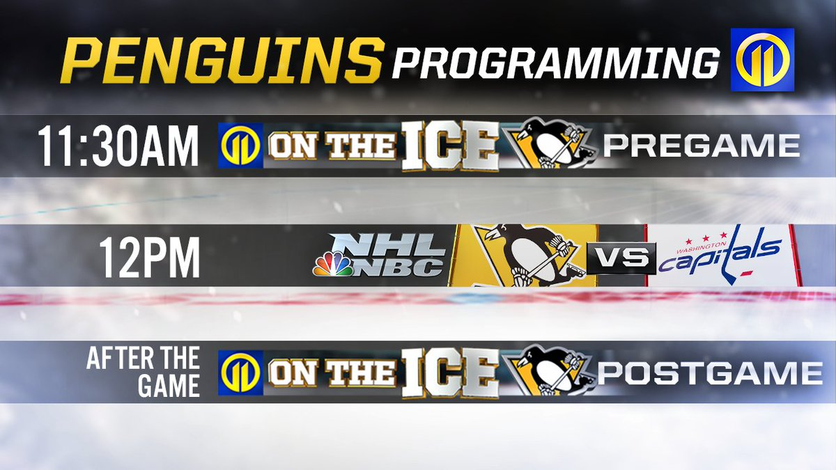 Stay in your comfy clothes and plan on a day of @penguins programming Sunday. 📺 They play the @capitals at noon on Channel 11. Our pregame coverage starts at 11:30 a.m.  #LetsGoPens #hockey #penguins #pens #wpxi @Honda