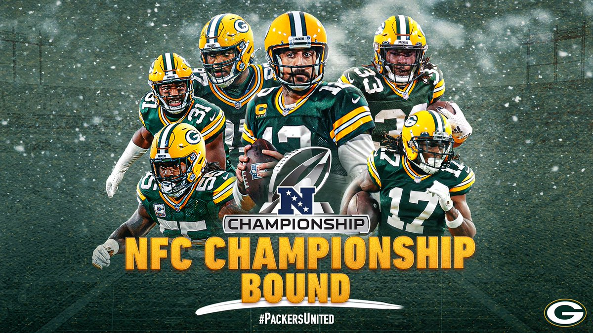 @packers Congratulations, what a well-deserved triumph, and we are going for more. Greetings from Colombia. #PackersUnited #GoPackGo #LARvsGB