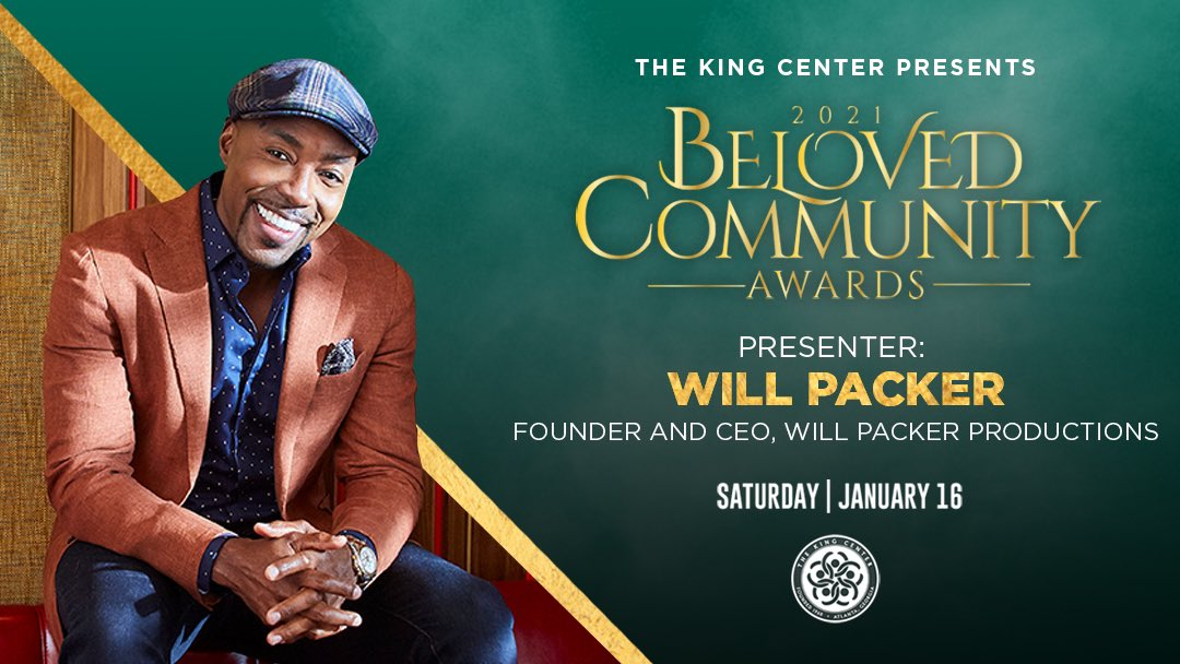 Welcome, @willpowerpacker. Thank you for presenting at our #BelovedCommunity Awards. #MLK #CorettaScottKing #BCAKingCenter