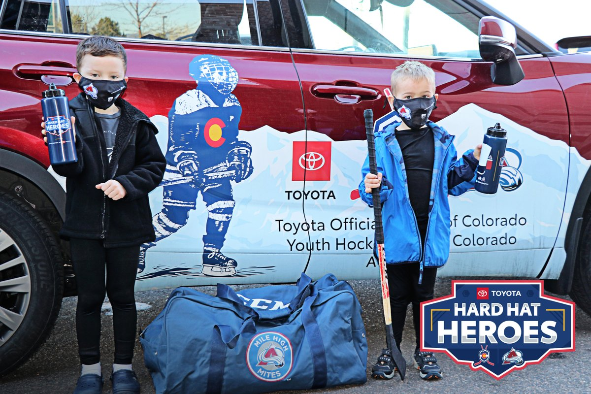 We are in the process of passing out 10,000 masks and water bottles to youth hockey associations as a part of #RinkAid, thanks to the Toyota Hard Hat Heroes Fund.  We are so excited to help so many kids and families safely get back on the ice!  #GoAvsGo