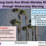 Image for the Tweet beginning: STRONG N-NE WIND event expected