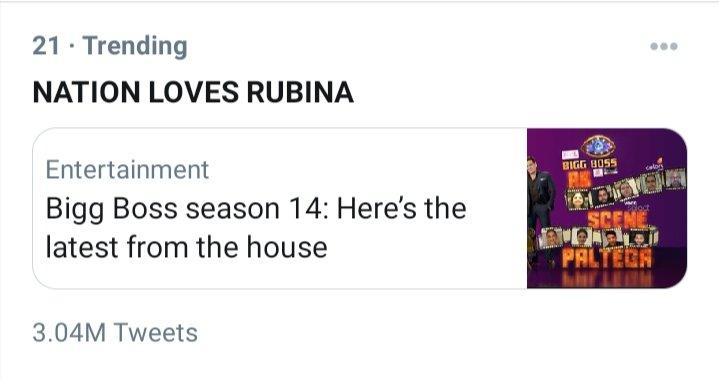 RT @imRrathod: Congratulations rubiholics 3M complete  NATION LOVES RUBINA https://t.co/8Td2XiUeDZ