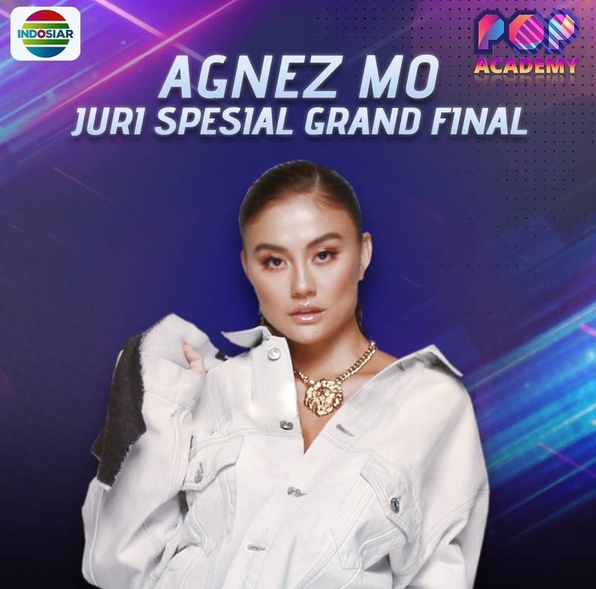 Tonight! AGNEZ MO will also be a special judge at Grand Final Concert Pop Academy. Airing live at 8pm on Indosiar. Don't miss it!